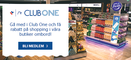 Shopping ombord Club One