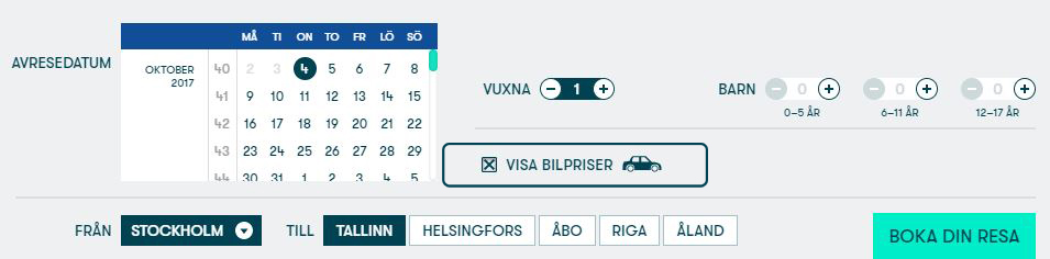 Att Boka En Resa Online Tallink Silja Line